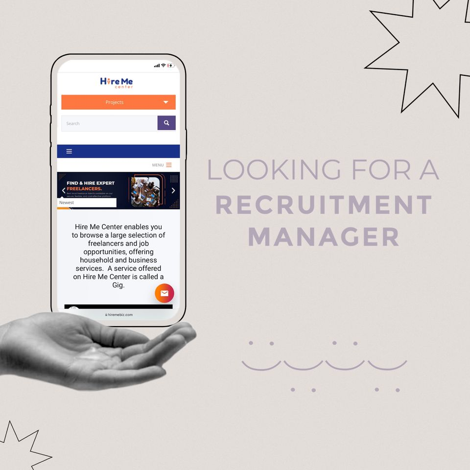 Looking for a Recruitment Manager